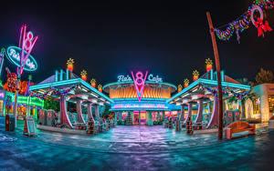Bilder USA Disneyland Park Haus Kalifornien Anaheim Design HDR Nacht Städte