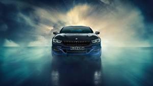 Bureaubladachtergronden BMW Vooraanzicht 8-Series 2019 M850i XDrive Night Sky Edition Natuur