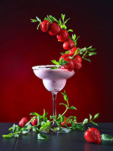 Wallpapers Cocktail Strawberry Stemware Design Food