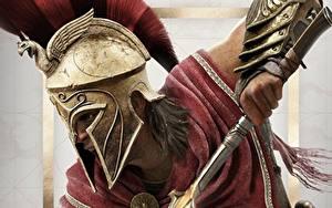 Hintergrundbilder Assassin's Creed Krieger Assassin's Creed Odyssey Helm Alexios