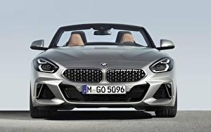 Bureaubladachtergronden BMW Vooraanzicht Zilveren kleur Roadster Z4 M40i Z4 2019 G29 auto's