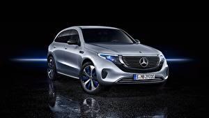 Wallpaper Mercedes-Benz Silver color 4Matic EQC400 EQC automobile