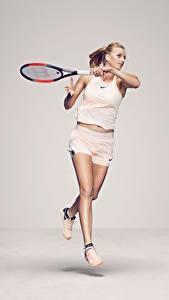 Hintergrundbilder Tennis Lauf Czech Petra Kvitova Mädchens