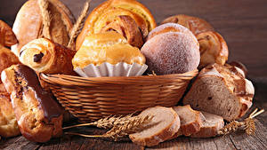 Bilder Backware Brot Brötchen Weidenkorb Ähre Lebensmittel