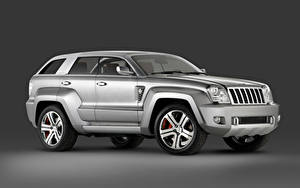 Fotos Jeep Grau Metallisch Seitlich Sport Utility Vehicle Trailhawk Concept, 2007 Autos