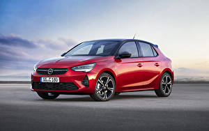Hintergrundbilder Opel Rot 2019 Corsa GS Line auto