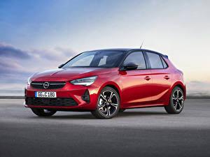 Hintergrundbilder Opel Rot 2019 Corsa GS Line