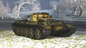 Bilder Panzer Russische T-54 3D-Grafik