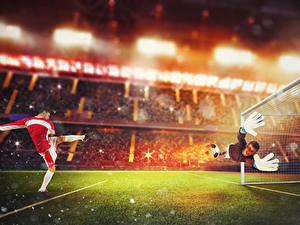 Bilder Fußball Torwart Mann Uniform Rasen Hand Sprung sportliches