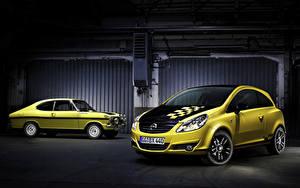 Fotos Opel Retro Zwei Gelb 2010 Corsa  Color Race  (D) auto