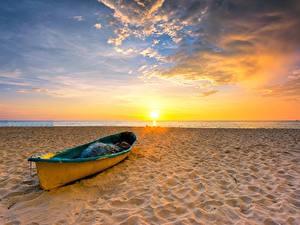 Hintergrundbilder Himmel Boot Sonnenaufgänge und Sonnenuntergänge Sonne Strände Natur