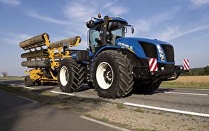 Bilder Landwirtschaftlichen Maschinen Traktor 2015-19 New Holland T9.565