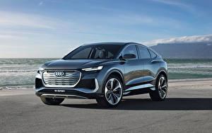 Fotos Audi Softroader Metallisch Q4 Sportback e-tron Concept, 2020 Autos
