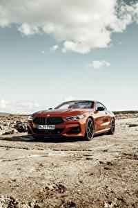 Bilder BMW Rot Coupe 2018 8-Series M850i xDrive G15 Autos