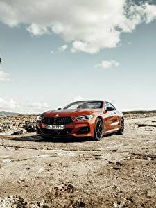 Bilder BMW Rot Coupe 2018 8-Series M850i xDrive G15 Autos
