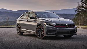 Hintergrundbilder Volkswagen Grau Metallisch 2019 Jetta GLI 35th Anniversary Autos