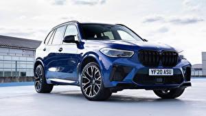 Fotos BMW Crossover Blau Metallisch X5 M Competition UK-spec (F95), 2020 Autos