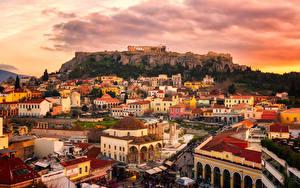 Bilder Griechenland Gebäude Ruinen Sonnenaufgänge und Sonnenuntergänge Attica