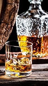 Bilder Alkoholische Getränke Whisky Trinkglas Eis Lebensmittel