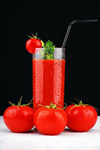 Bilder Fruchtsaft Tomate Trinkglas Lebensmittel