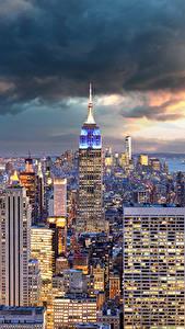 Fotos USA Haus Wolkenkratzer New York City Manhattan Megalopolis Wolke Städte