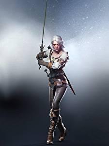 Hintergrundbilder Krieger The Witcher 3: Wild Hunt Ciri Schwert Pose Blond Mädchen Spiele Mädchens Fantasy