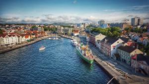 Picture Norway Marinas Building Ships Stavanger Cities