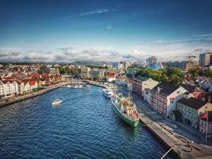 Fotos Norwegen Schiffsanleger Gebäude Schiffe Stavanger Städte