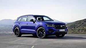 Fotos Volkswagen Softroader Blau 2020 Touareg R Worldwide