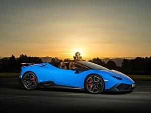 Hintergrundbilder Lamborghini Hellblau Seitlich 2017 O.CT Tuning Huracan 800 Supercharged Spyder