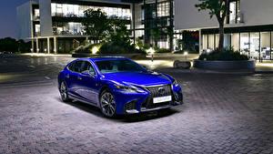 Fondos de Pantalla Lexus Azul Metálico 2019 LS 500 F SPORT el carro