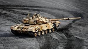 Fotos Panzer T-90 Russisches  Militär