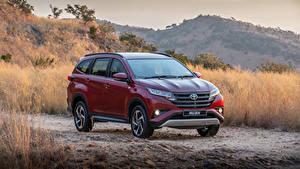 Hintergrundbilder Toyota Burgunder Farbe Metallisch 2018 Rush auto