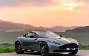 Fotos Aston Martin Morgendämmerung und Sonnenuntergang Grau Metallisch 2018, DB11, AMR, Signature Edition auto