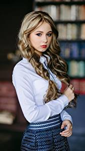 Pictures Bokeh Blouse Hands Hair Cute Glance Beautiful Ksenia, Kirill Sokolov Girls
