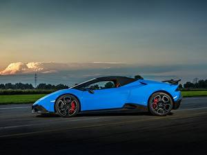 Bilder Lamborghini Hellblau Seitlich 2017 O.CT Tuning Huracan 800 Supercharged Spyder Autos