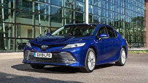 Bilder Toyota Blau Hybrid Autos 2019 Camry Hybrid