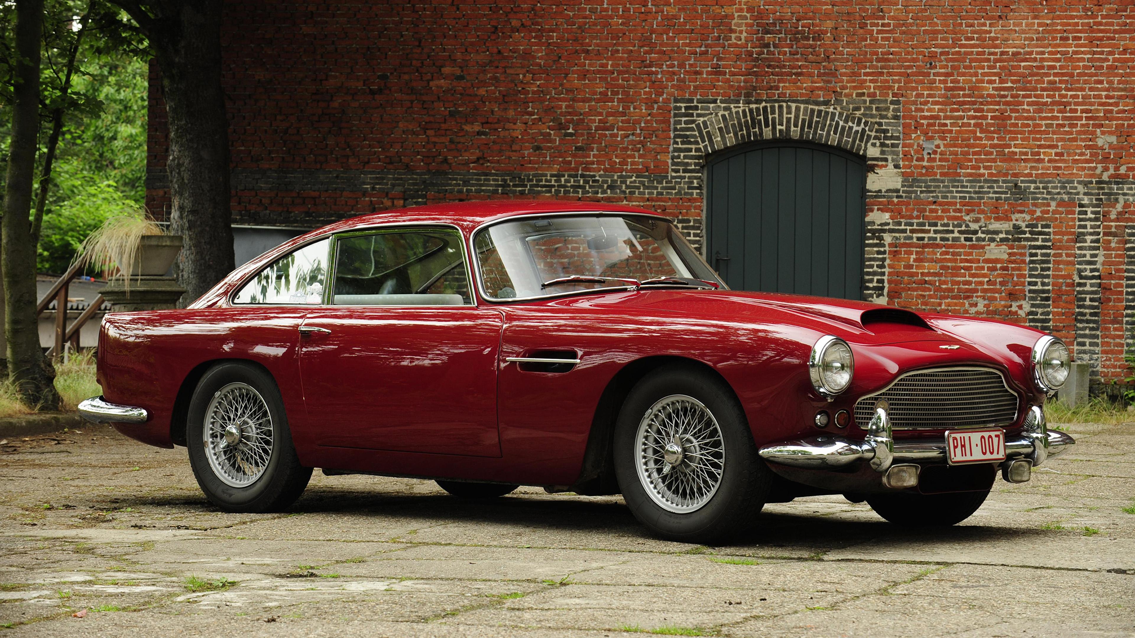 Fondos De Pantalla 3840x2160 Retro Aston Martin 1960 61 Db4 Worldwide Touring Metalico Rojo Coches Descargar Imagenes