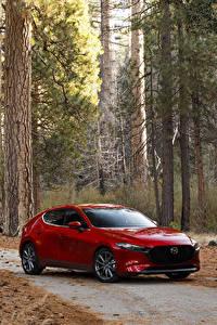 Fotos Mazda Rot Metallisch 2020 Mazda3 Skyactiv-G Hatchback automobil