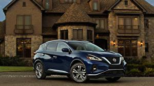 Bilder Nissan Blau Metallisch 2019 Murano Autos