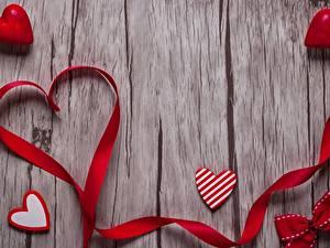 Hintergrundbilder Valentinstag Herz Band Bretter