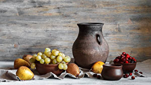 Image Still-life Grapes Pears Berry Pitcher Food