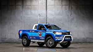 Hintergrundbilder Toyota Tuning Pick-up Metallisch Blau 2017-18 Hilux Bruiser Autos
