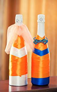 Fotos Champagner Flasche Zwei Design Hochzeit Lebensmittel