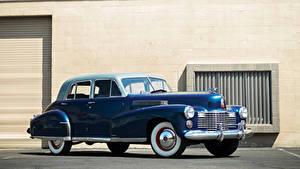 Bilder Cadillac Retro Blau 1941 Fleetwood Sixty Special Sedan Autos