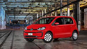 Hintergrundbilder Volkswagen Rot Metallisch 2017-19 MPI Latam Autos