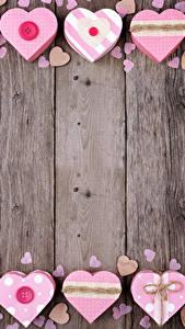 Hintergrundbilder Valentinstag Bretter Herz Vorlage Grußkarte