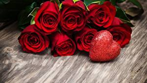 Image Roses Valentine's Day Heart Red Flowers