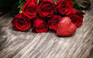 Fotos Rosen Valentinstag Herz Rot Blumen