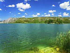 Fotos Kroatien Park See Himmel Wolke Krka National Park Natur